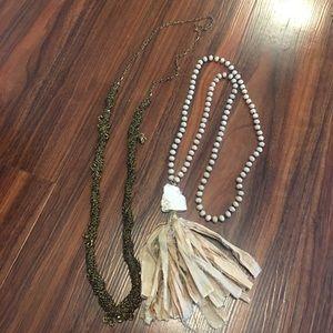 Set of two boho long necklaces